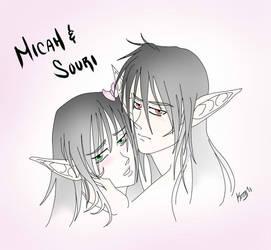 Souri and Micah Fan Art by KuriChan001