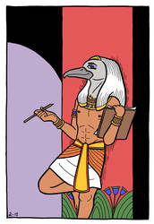 Art Trade: Thoth by A-gnosis