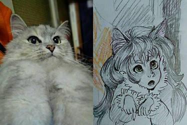 humanization my cat. by ZoosVey