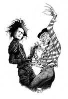 Freddy vs Edward by anatomista