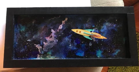 Space shadowbox by sillysarasue