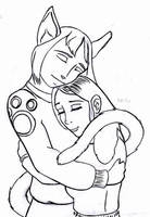 Trades and Jedda Hug by The-original-ninja-c