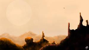 New Voyage (Landscape Practice #1) by el-bojo