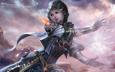 A Female Elementalist by ChaoyuanXu