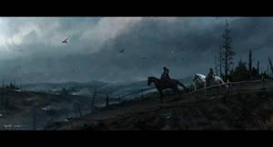 Arya and the Hound by ChaoyuanXu