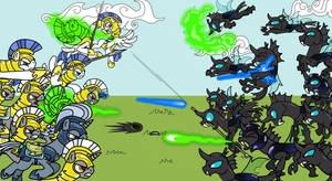 royal guards vs changelines by tay-houby