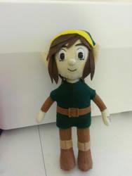 Zelda 2 Link Felt Doll by stargazer-eyes