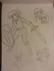 Zelda 2 Sketches by stargazer-eyes
