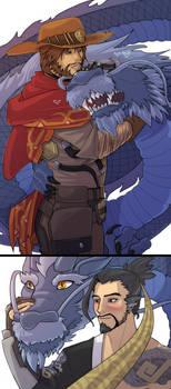 Spirit Dragons by VolverseLoco