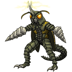 Sketch Commission - Megalon by RacieB