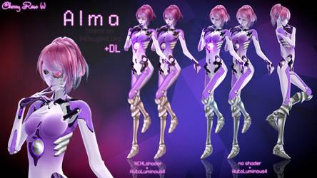 MMD model - Kuroyu-styled Alma ( DL ) by CherryRoseC