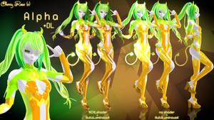 MMD model - Kuroyu-styled Alpha ( DL ) by CherryRoseC
