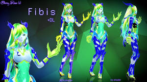 MMD model - Kuroyu-styled Fibis ( DL ) by CherryRoseC