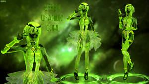 MMD model - Kuroyu Green Uranium Gumi [DOWNLOAD] by CherryRoseC