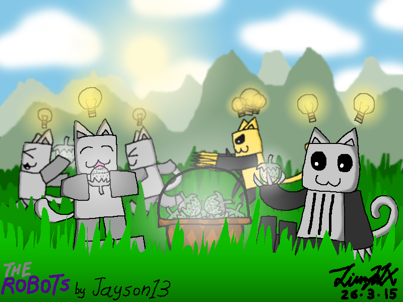Roblox The Robots Gato Luz By Jimmyljx On Deviantart