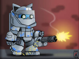 X06 Protector Heavy Power Armour Suit - Aoneko by JimmyLJX