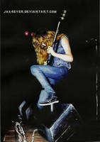 Dave Mustaine (acrylics) by Jak4EVER