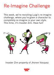 Design-A-Character - Re-Imagine Challenge - Zim by HipnikDragomir