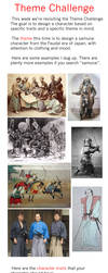 Design-A-Character - Theme Challenge - Samurai by HipnikDragomir