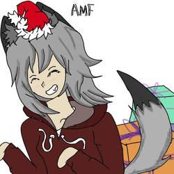Wolfgirls Christmas  by AdamMuddyfox
