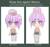 Draw Again Meme~ by floradore