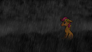 Alone in the Rain by MoonGazerThePony