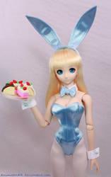Blue BunnyGirl Cake 1 by AnimatorAR