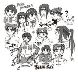 Sketch I: Team Gai by crooquete
