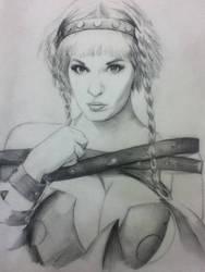 Lisa Lou Who as Leina of Queen's Blade by StuSchuckman