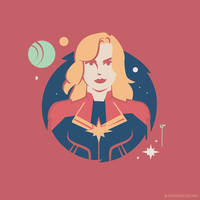 Carol Danvers (Red and Gold Costume) by Jurassickevin