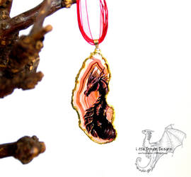 Fire Wyrm Pendant by LittleDragonDesigns