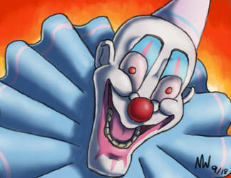 Funneh clown by Hobowithahotdog