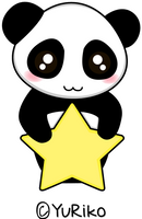 Panda star by o-YuRiko-o