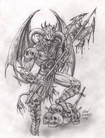 Demon warrior by arcaneserpent