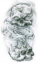 Spirit Skulls by arcaneserpent