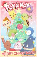 Merry Pokemon Christmas by thei11