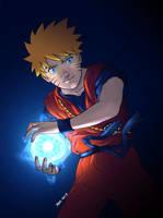 Naruto as Son Goku by thei11