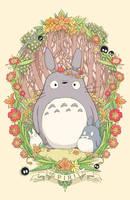 Flower Crown Totoro by Cinnamoron
