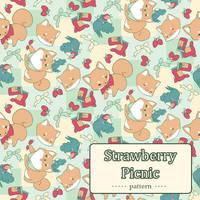 Strawberry Picnic Pattern by Cinnamoron