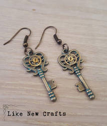 Key earrings by LikeNewCrafts