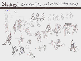 Studies 4: Anatomy, Flow, Pose, Structure Practice by WaywardSeph