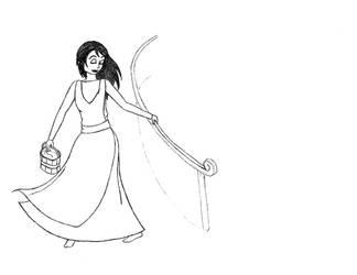 Marilee Kinneret, a Stentilian Peasant by GalasiaSeekai