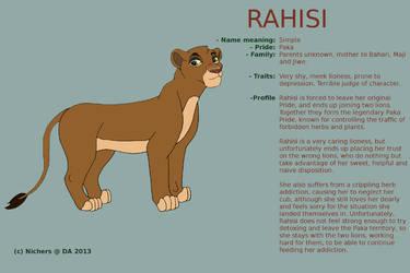 Character sheet - RAHISI by Nichers