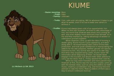 Character sheet - KIUME by Nichers