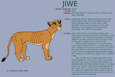 Character Sheet - JIWE by Nichers