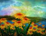 Dandelion Vista by rabbitica