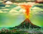 Hourglass Volcano by rabbitica