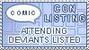 Comic Convention Listing by Comicslist