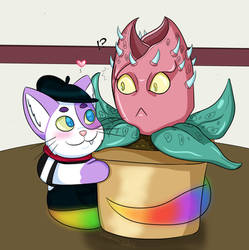 Cartophyllus and Stray Cat by Stitchlovergirl96