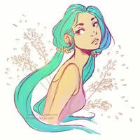 Summerly Bubblegum by Mardigitalart